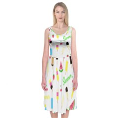 Summer Pattern Midi Sleeveless Dress by Valentinaart