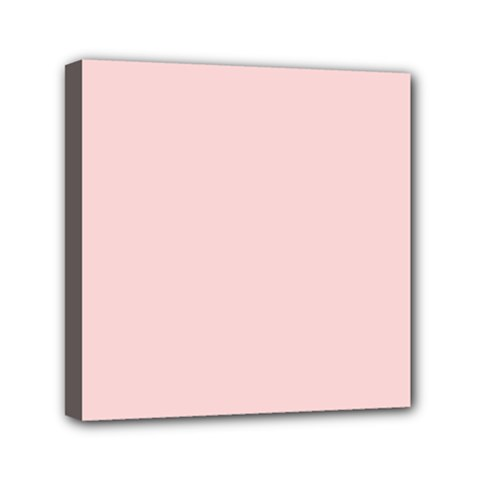 Blush Pink Mini Canvas 6  X 6  by SimplyColor