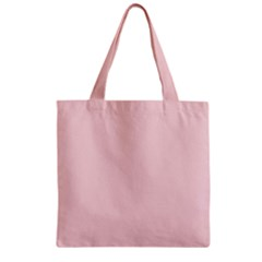 Blush Pink Zipper Grocery Tote Bag by SimplyColor