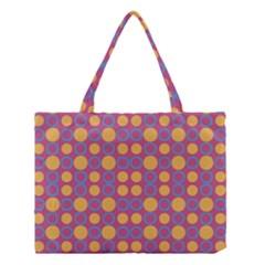 Colorful Geometric Polka Print Medium Tote Bag by dflcprints