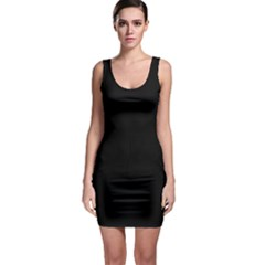 Simply Black Sleeveless Bodycon Dress by SimplyColor