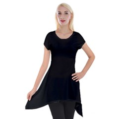 Simply Black Short Sleeve Side Drop Tunic by SimplyColor
