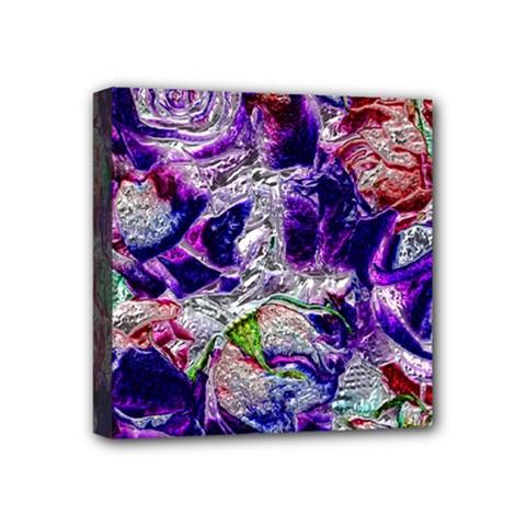 Floral Chrome 01a Mini Canvas 4  X 4  by MoreColorsinLife
