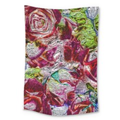Floral Chrome 01c Large Tapestry