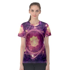 A Gold And Royal Purple Fractal Map Of The Stars Women s Sport Mesh Tee by beautifulfractals