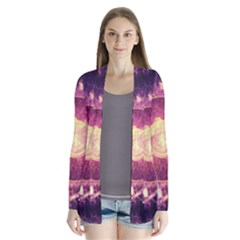 A Gold And Royal Purple Fractal Map Of The Stars Cardigans