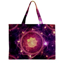 A Gold And Royal Purple Fractal Map Of The Stars Medium Tote Bag by beautifulfractals