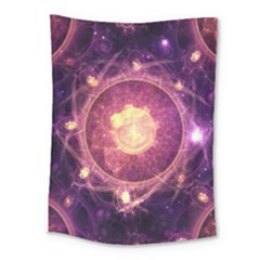 A Gold And Royal Purple Fractal Map Of The Stars Medium Tapestry