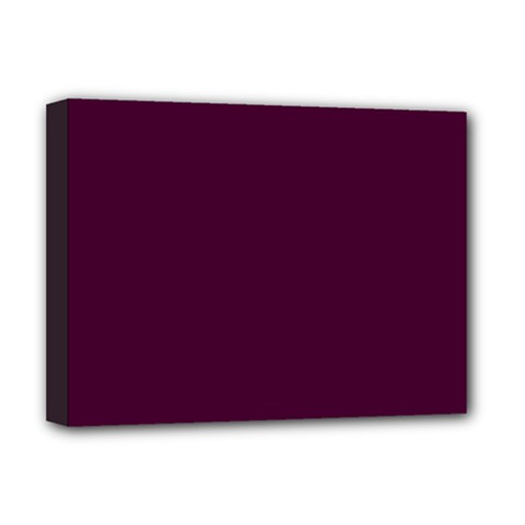 Black Cherry Solid Color Deluxe Canvas 16  X 12   by SimplyColor