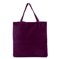 Black Cherry Solid Color Grocery Tote Bag by SimplyColor