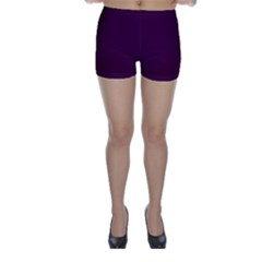 Black Cherry Solid Color Skinny Shorts by SimplyColor