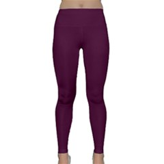 Black Cherry Solid Color Classic Yoga Leggings by SimplyColor