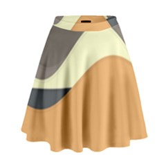 Wave Chevron Waves Material High Waist Skirt by Mariart