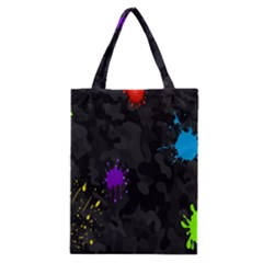 Black Camo Shot Spot Paint Classic Tote Bag by Mariart
