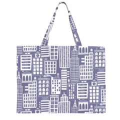 Building Citi Town Cityscape Zipper Large Tote Bag by Mariart