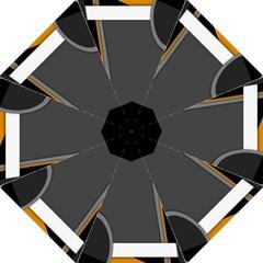 Flag Grey Orange Circle Polka Hole Space Straight Umbrellas by Mariart