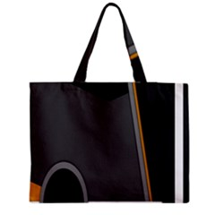 Flag Grey Orange Circle Polka Hole Space Medium Tote Bag by Mariart