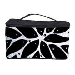 Flower Fish Black Swim Cosmetic Storage Case by Mariart