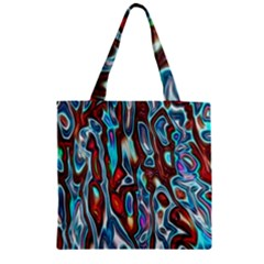 Dizzy Stone Wave Zipper Grocery Tote Bag by Mariart