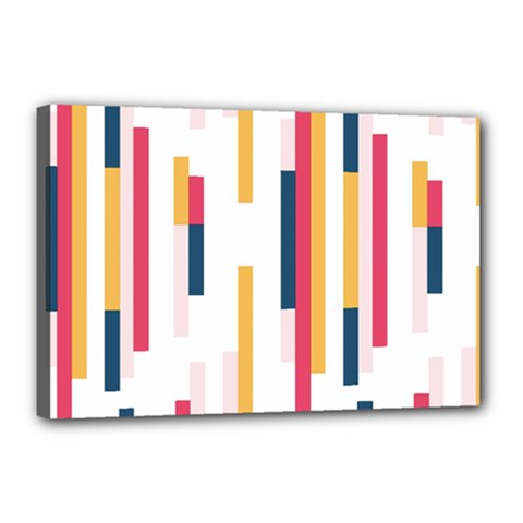 Geometric Line Vertical Rainbow Canvas 18  X 12  by Mariart
