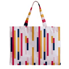 Geometric Line Vertical Rainbow Zipper Mini Tote Bag by Mariart
