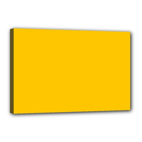 Amber Solid Color  Canvas 18  X 12  by SimplyColor