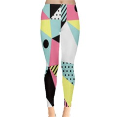 Geometric Polka Triangle Dots Line Leggings  by Mariart