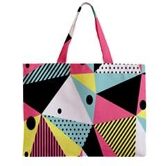 Geometric Polka Triangle Dots Line Mini Tote Bag by Mariart
