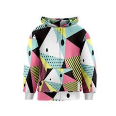 Geometric Polka Triangle Dots Line Kids  Zipper Hoodie