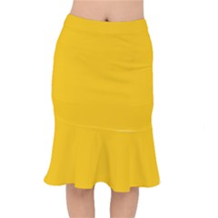 Amber Solid Color  Mermaid Skirt by SimplyColor