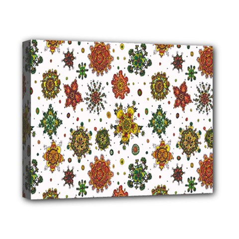 Flower Floral Sunflower Rose Pattern Base Canvas 10  X 8  by Mariart