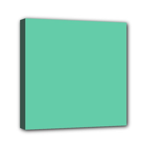 Aquamarine Solid Color  Mini Canvas 6  X 6  by SimplyColor