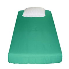 Aquamarine Solid Color  Fitted Sheet (single Size) by SimplyColor