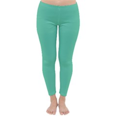 Aquamarine Solid Color  Classic Winter Leggings by SimplyColor