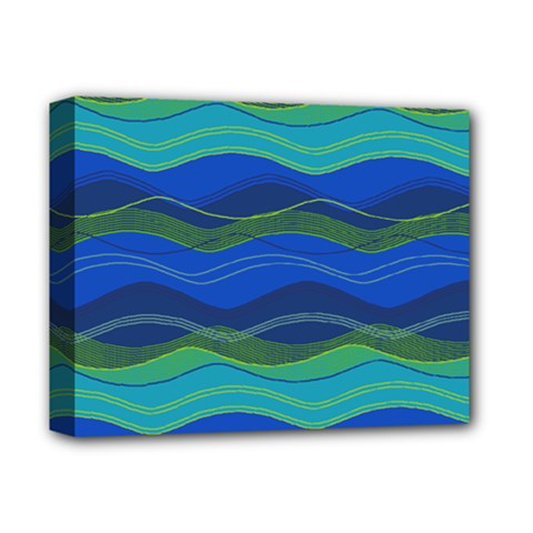 Geometric Line Wave Chevron Waves Novelty Deluxe Canvas 14  X 11  by Mariart