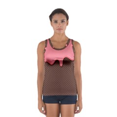 Ice Cream Pink Choholate Plaid Chevron Women s Sport Tank Top