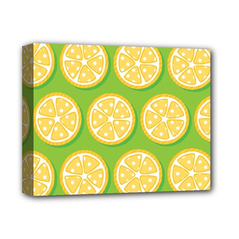 Lime Orange Yellow Green Fruit Deluxe Canvas 14  X 11  by Mariart