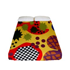 Line Star Polka Dots Plaid Circle Fitted Sheet (full/ Double Size) by Mariart
