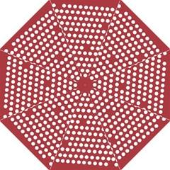 Pink White Polka Dots Hook Handle Umbrellas (medium) by Mariart