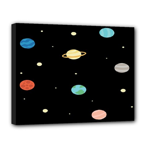 Planets Space Canvas 14  X 11  by Mariart