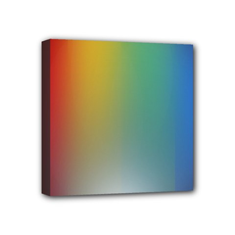 Rainbow Flag Simple Mini Canvas 4  X 4  by Mariart