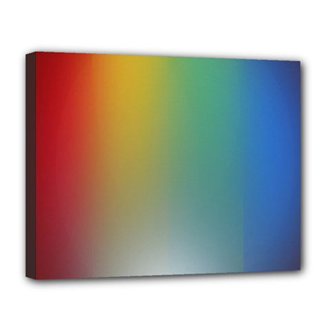 Rainbow Flag Simple Canvas 14  X 11  by Mariart