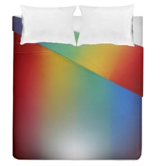 Rainbow Flag Simple Duvet Cover Double Side (queen Size) by Mariart