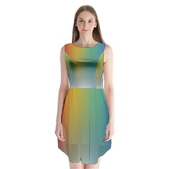 Rainbow Flag Simple Sleeveless Chiffon Dress   by Mariart