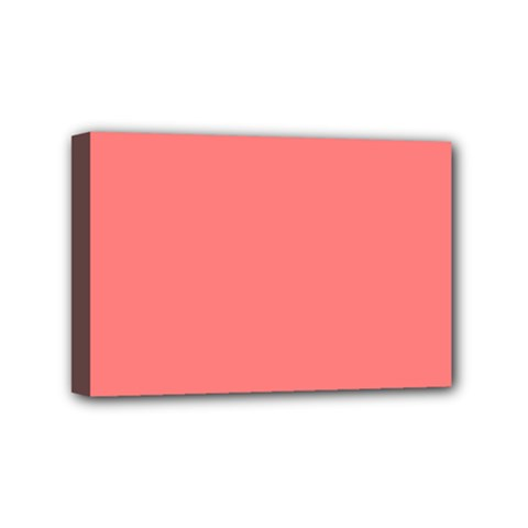 Coral Solid Color  Mini Canvas 6  X 4  by SimplyColor