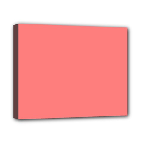 Coral Solid Color  Canvas 10  X 8  by SimplyColor