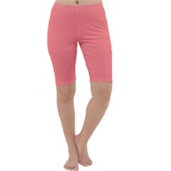 Coral Solid Color  Cropped Leggings  by SimplyColor