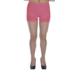 Coral Solid Color  Skinny Shorts by SimplyColor