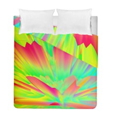 Screen Random Images Shadow Green Yellow Rainbow Light Duvet Cover Double Side (full/ Double Size) by Mariart