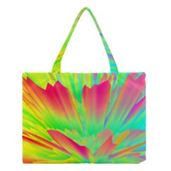 Screen Random Images Shadow Green Yellow Rainbow Light Medium Tote Bag by Mariart